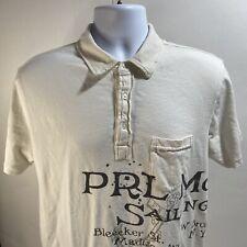 Ralph Lauren Polo PRL Marine Co. Sailing Supplies Shirt Bleecker St. Men's L