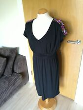 Ladies PEPPERBERRY Dress Size 10 R SC Black Beaded Smart Party Evening