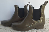 Women's Rain Weather Ankle Boots Alex Olive Green Comfortview Wide Sizes