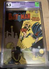 Batman 41 1947 CGC 6.5 Penguin Appearance 👀1st SCI FI COVER! Beautiful Graded