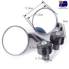 """Black Bar End Mirrors Round 3"""" Convex Mirror 7/8"""" For Suzuki SV650 SV 650"""