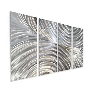 Metal Wall Art Modern Art Wall Sculpture Silver Home ,Office  Decor Jon Allen