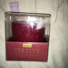 Next Festive Fragranced Candle Spicy with Cinnamon