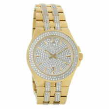 Bulova Crystal 41.7mm Gold-Tone Stainless Steel Men's Watch - 98C126
