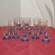 série de 11 verres ancien en cristal de Daum signé verres à liqueur + apéritif