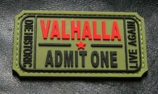 Ticket to Valhalla Admit One Vikings Mad Max PVC Rubber Morale Hook Patch Mtu2