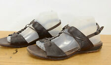 Merrell Micca Womens Sz 9 Mahogany Comfort Walking Leather Ankle Strap Sandal