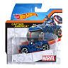 Hot Wheels Marvel Moto with Rider: CAPTAIN AMERICA Motorcycle