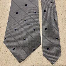 BALLY Switzerland 100% Silk Striped & Spots, Honey & Navy Combo, Print Tie