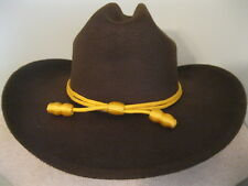 Cavalry Western Hat -  Cattleman's Cavalry Band - Faux Felt - Brown - Small/M