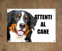 BOVARO DEL BERNESE attenti al cane mod 1 TARGA cartello IN METALLO