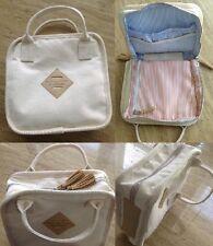 Shipley & Halmos Designer White Makeup Cosmetic Bag Travel - New