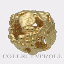 Authentic TrollBead 18kt Gold Wine Harvest TrollBeads  21329