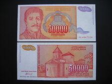 Yugoslavia 50000 Dinara 1994 (p142a) UNC