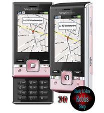 Sony Ericsson t715 Pink (sin bloqueo SIM) 3g 4 banda 3,2 mp luz radio rareza bien