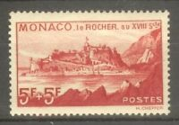 "MONACO STAMP TIMBRE N° 194 "" VUE DU ROCHER 5F + 5F VERMILLON 1939 "" NEUF xx SUP"