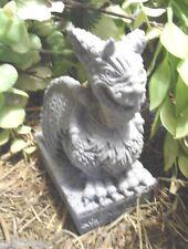 Latex only chinese gargoyle dragon on base mold plaster concrete mold