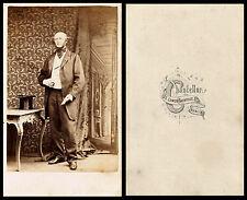 ca 1860s CDV PHOTO PORTRAIT OF DISTINGUISHED MAN, TOP HAT & CHANCELLOR, DUBLIN