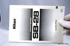 Nikon Autofocus Speedlight SB-28 Flash Manual Guide Genuine (EN)