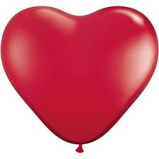 Party Supplies Love Valentines Day Ruby Red 90cm Latex Heart Balloons