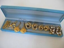 Job Lot 6 Pairs Vintage 9ct GOLD Plated EARRINGS Pierced Ears Jewellery 58.3g