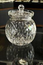 "Lucerne by Waterford Crystal Biscuit Barrel Cookie Jar Round 7 3/4"" w/Lid"