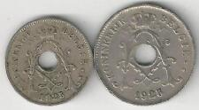 2 OLDER COINS from BELGIUM - 5 & 10 CENTIMES/BOTH 1925/BOTH FLEMISH