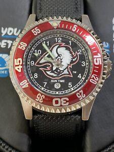 "RARE BUFFALO SABRES SUN TIME Calendar Watch NHL The Competitor ""BRAND NEW"""