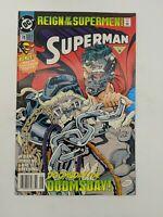 Superman #78N (June 1993) Dan Jurgens Newsstand Variant With Poster DC Comics
