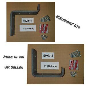 Heavy Duty Steel Scaffold Board Rustic Shelf Brackets 100mm 4inch Made in UK