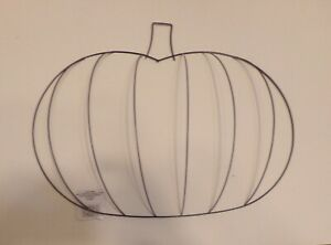 Wreath Form frame Pumpkin 3D Metal Fall Holiday mesh burlap 13X17.6X4.6