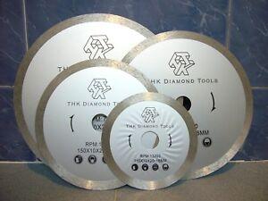 "110mm 4.3"" inch THK Diamond segment sintered continuous rim TILE SAW BLADE wheel"