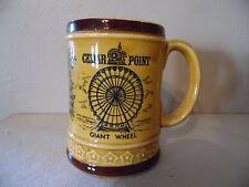 Vintage Cedar Point Ohio Souvenir Mug Giant Wheel Mill Race Space Spiral