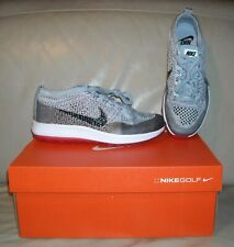 NWOB  Nike  Flyknit Racer G Women's Golf Shoes Size 8  Color Grey / Black