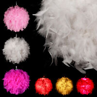 Modern Feather Ball Light Shade Ceiling Lighting Pendant Lamp Decro + E27 Bulb