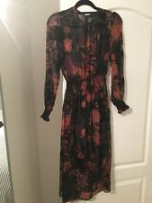 Zara Midi Dress With Velvet Floral Detail. Small brand new with tags SOLD OUT