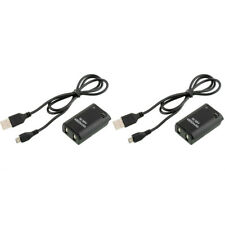2X 4800mAh Battery Pack + USB Charger Cable for Xbox 360 Wireless Controller