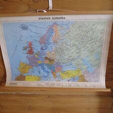 kleines Rollplakat Staaten Europas Lehrplakat Stiefel Wandkarten 37x55 Landkarte