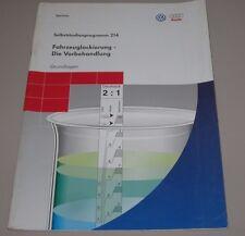 VW Audi Fahrzeug Lackierung Vorbehandlung  Selbststudienprogramm SSP 214 1999