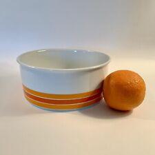 Vintage Orange and Brown Mid Century Serving Bowl E5666