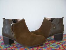 NEW*   Sporto     Water Resistant  TAN  Suede  Ankle Bootie     12 W