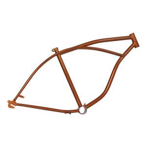 "26"" Beach Cruiser Lowrider Bicycle Bike Frame Orange"
