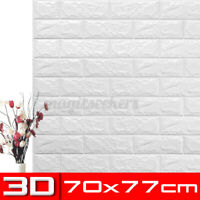 10x 3D Waterproof Tile Brick Wall Sticker Self-adhesive XPE Foam Panel
