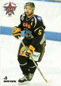 David Clarke 2004-05 UK EIHL All-Stars Nottingham Panthers