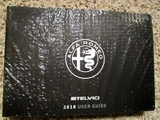 2018 Alfa Romeo Stelvio Us Factory Original Owners Manual Set Factory Sealed