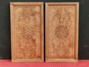 PAIR OF LARGE ANTIQUE FRENCH CARVED OAK PANELS - C1900