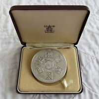 1985 GREAT WESTERN RAILWAY 63mm SILVER MEDAL - boxed