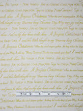 Christmas Words Fabric ~ 100% Cotton Yard ~ Benartex Seasons Greetings Cream
