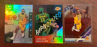LeBron James 2020 (3) Card Lot -Acetate Clearly Donruss, HYPNOTIZED Holo LAKERS