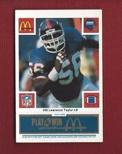 LAWRENCE TAYLOR 1986 McDONALDS WITH BLUE COUPON #56